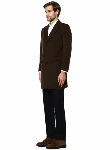 Beymen Collection Klasik Yün Palto Kahve